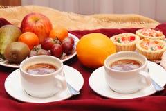 Café da manhã saudável para dois fotografia de stock royalty free