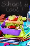 Café da manhã saudável para a escola Fotografia de Stock Royalty Free
