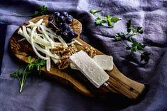 Café da manhã, tabela do queijo Imagem de Stock