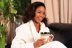 Café da mulher fotografia de stock royalty free