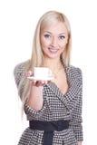 Café da mulher de negócio Fotografia de Stock Royalty Free