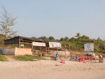 Café da praia na areia Imagens de Stock