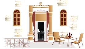 Café da rua Foto de Stock