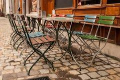 Café da rua em Bruxelas, Bélgica Fotografia de Stock