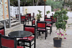Café da rua em Hammamed, Tunísia Estilo retro Imagem de Stock
