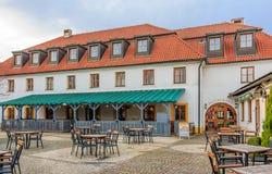 Café da rua em Praga Fotografia de Stock