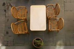 Café da rua, vista superior Imagens de Stock Royalty Free