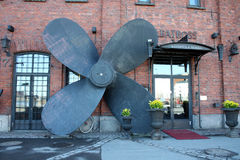 Café da terraplenagem de Helsínquia em Finlandia Fotografia de Stock