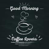 Café da tomada da rotulação do cartaz com você Imagem de Stock