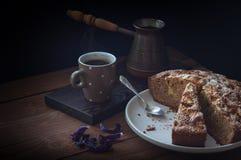 Café da torta de Apple Fotos de Stock Royalty Free