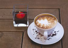 Café dans evenening Images stock