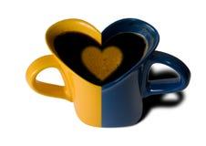 Café dans la cuvette Photo libre de droits
