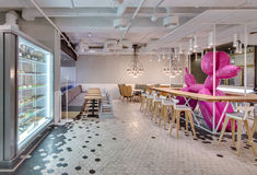 Café dans le style de grenier Image stock