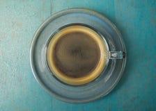 Café de Americano na tabela Imagens de Stock