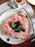 Café de basilic de café de pizza de voyage de l'Italie photo libre de droits