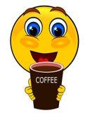 Café de boissons d'émoticônes de sourire illustration libre de droits