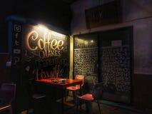 café de boissons sur un coin d'une rue photographie stock