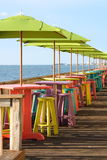 Café de bord de la mer Photo libre de droits