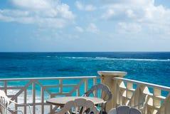 Café de bord de la mer Photographie stock