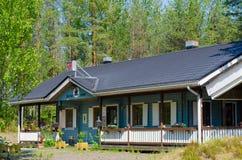 Café de bord de la route, Finlande Photos stock
