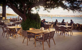 Café de Bosphorus Photo stock