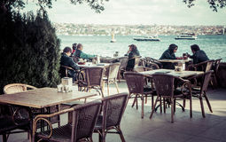 Café de Bosphorus Photographie stock
