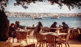 Café de Bosphorus Photo libre de droits
