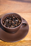 Café de Brown dans la tasse Photographie stock libre de droits