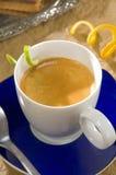 Café de café express avec la torsion de citron Images libres de droits