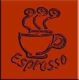Café de café express de vecteur illustration stock