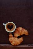 Café de coeurs Photos libres de droits