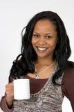 Café de consumición de la mujer Fotografía de archivo libre de regalías