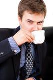 Café de consumición del hombre de negocios Imágenes de archivo libres de regalías