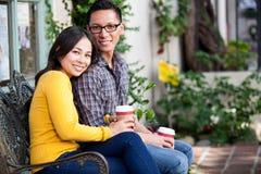 Café de couples Photo stock