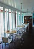Café de cristal de la casa Foto de archivo