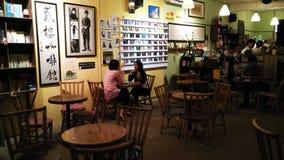 Café de deuxième étage au Malacca image stock