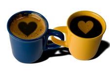 Café de dos tazas stock de ilustración