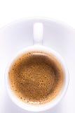 Café de Expresso en taza blanca llana Fotografía de archivo libre de regalías
