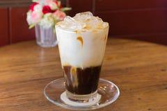 Café de gelo com leite Fotografia de Stock