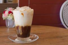 Café de gelo com leite Fotos de Stock