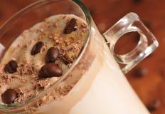 Café de glace froid avec du chocolat Image libre de droits