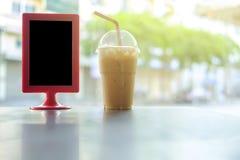 Café de glace sur le Tableau Photos stock