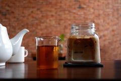 Café de hielo en la cafetería Fotos de archivo libres de regalías