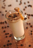 Café de hielo frío con el chocolate Imagen de archivo libre de regalías