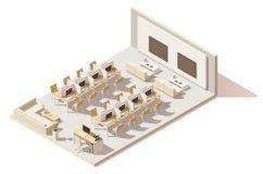 Café de Internet polivinílico bajo isométrico del vector stock de ilustración
