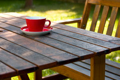 Café de jardin Photos libres de droits