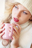 Café de l'hiver Images libres de droits