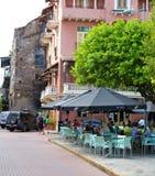Café de la acera Foto de archivo libre de regalías