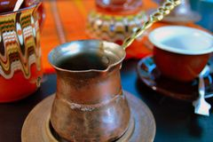 Café de la arena en Bulgaria 1 Fotografía de archivo libre de regalías