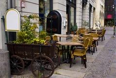 Café de la calle fotografía de archivo libre de regalías